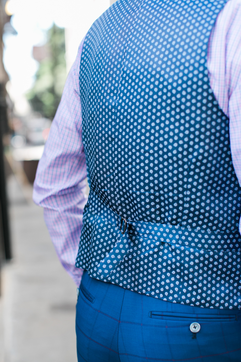 Suit linings and vest backs can be fun to play with by picking fun patterns or colors.  This is your chance to make a statememnt or to show off your personality.