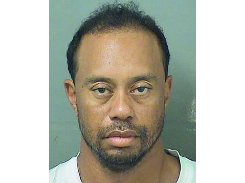 Tiger Woods had to be woken up by police