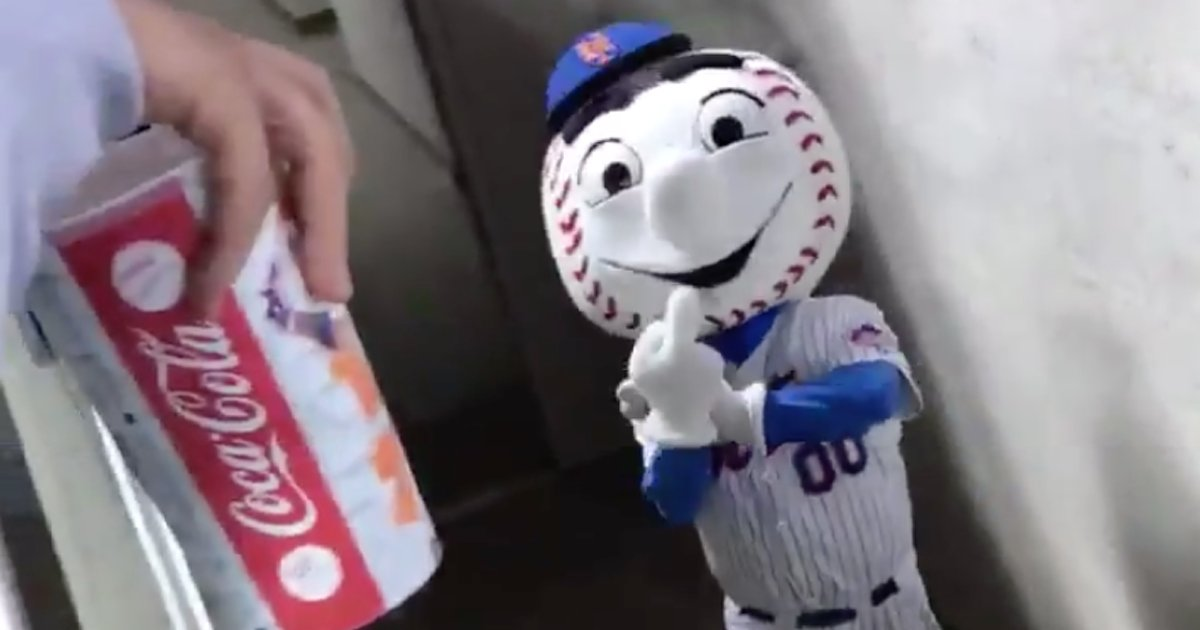 Mr Met gives fan the finger, employee out as team mascot  Mr Met gives fan the finger, employee out as team mascot