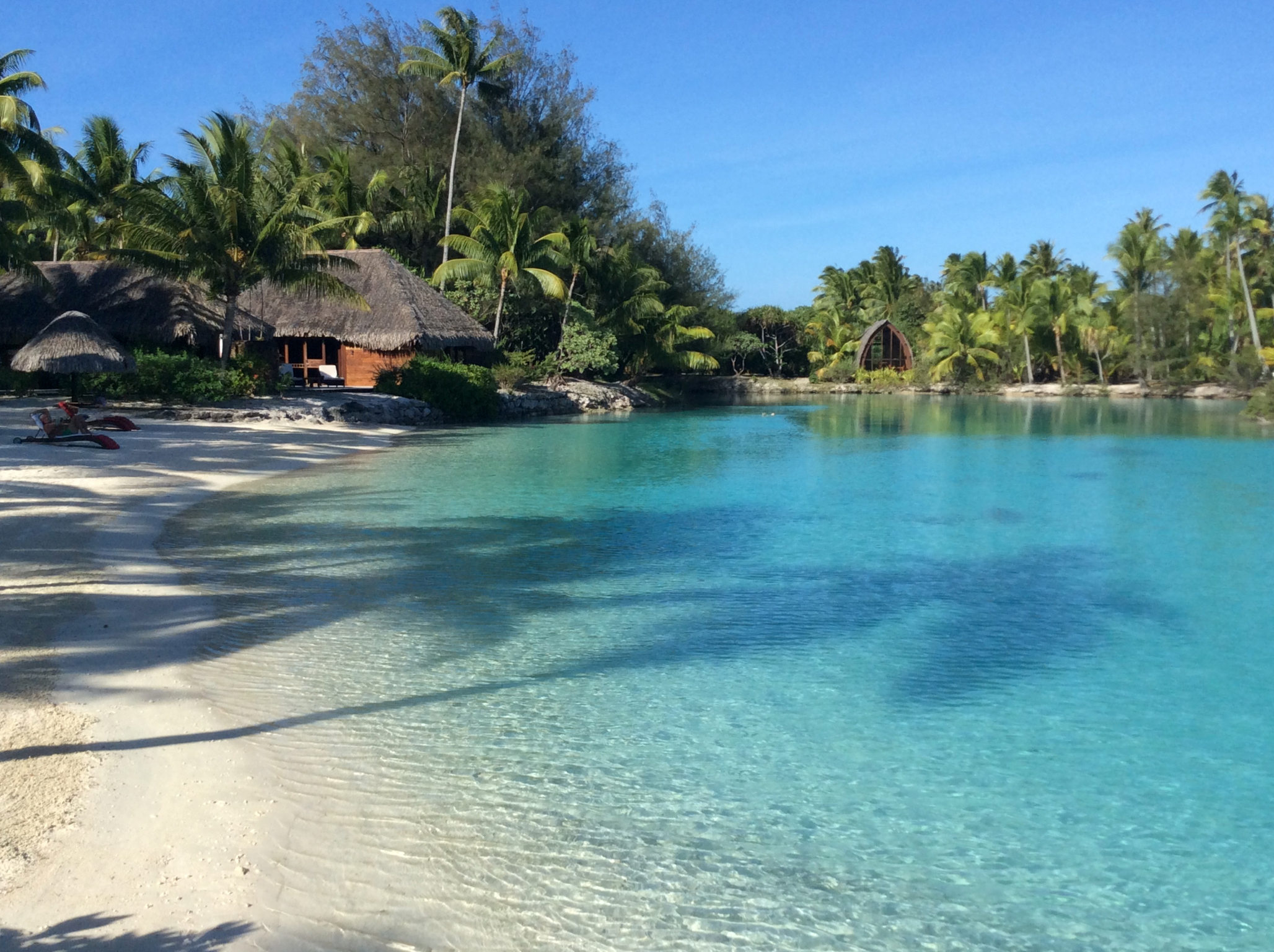 The stunning lagoon sanctuary where we spent almost all our time.