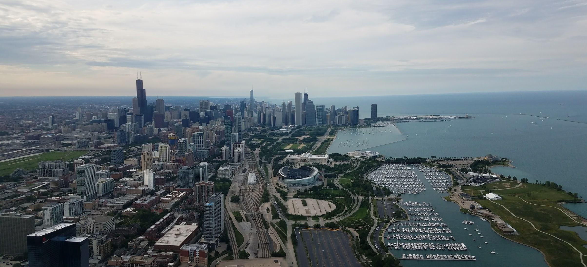 Chicago skyline panorama with CHE Tours!