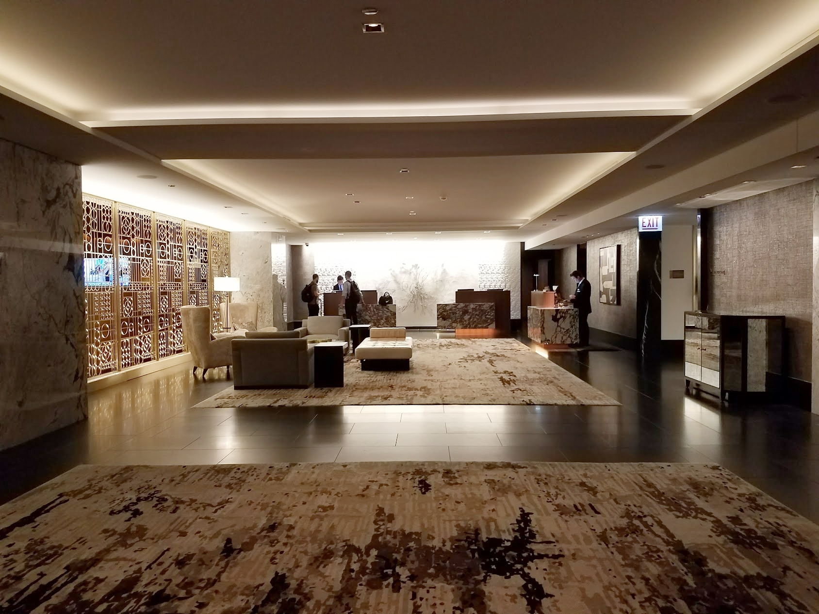 The new check-in area at The Ritz Carlton Chicago.