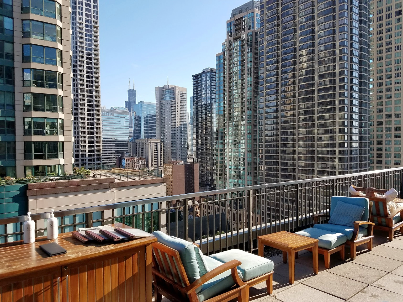 There's no other hotel in Chicago that has a pool on the 20th floor with an outdoor terrace to boot. Peninsula Chicago wears that crown.