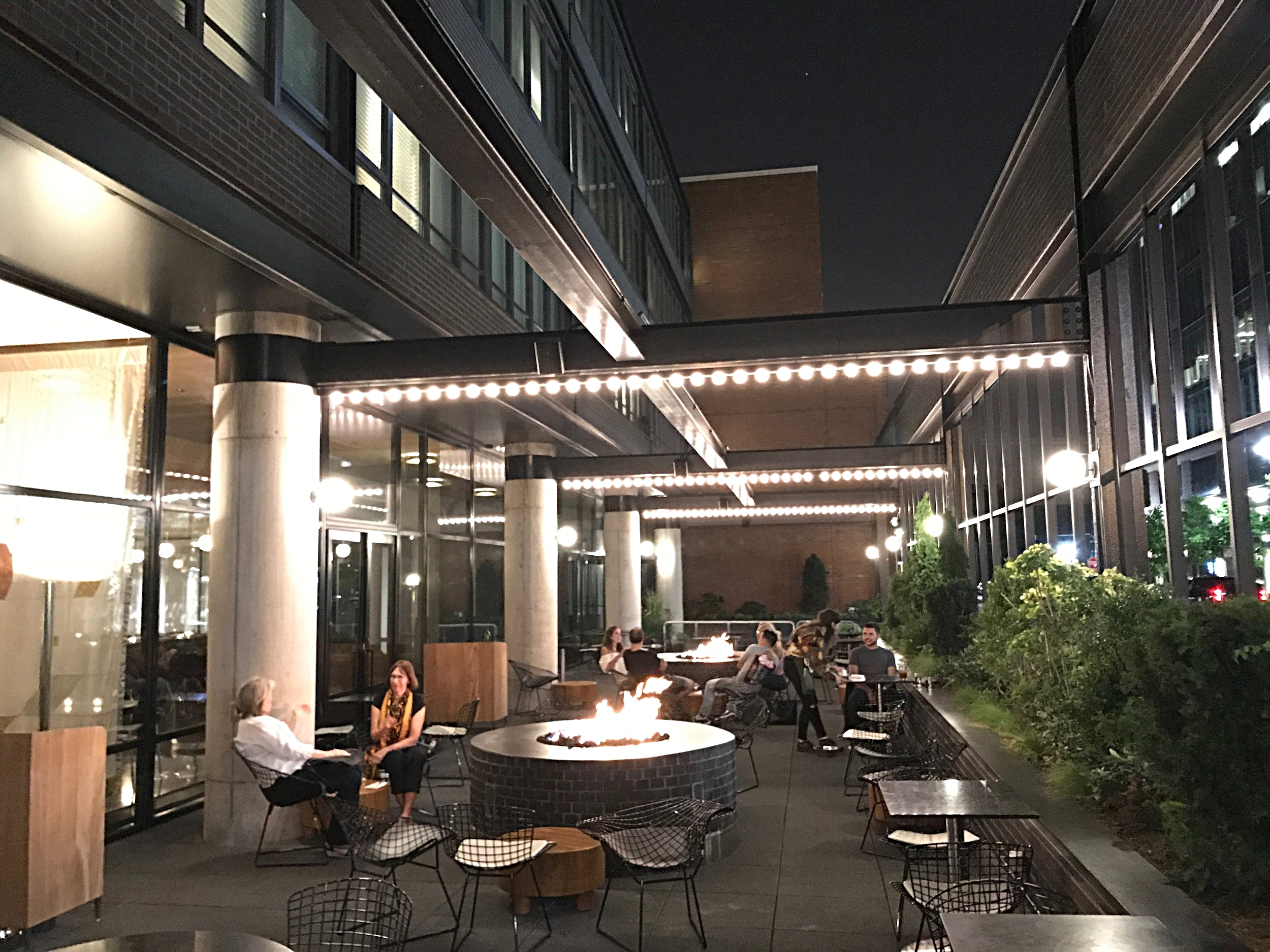 The outdoor patio at  City Mouse .