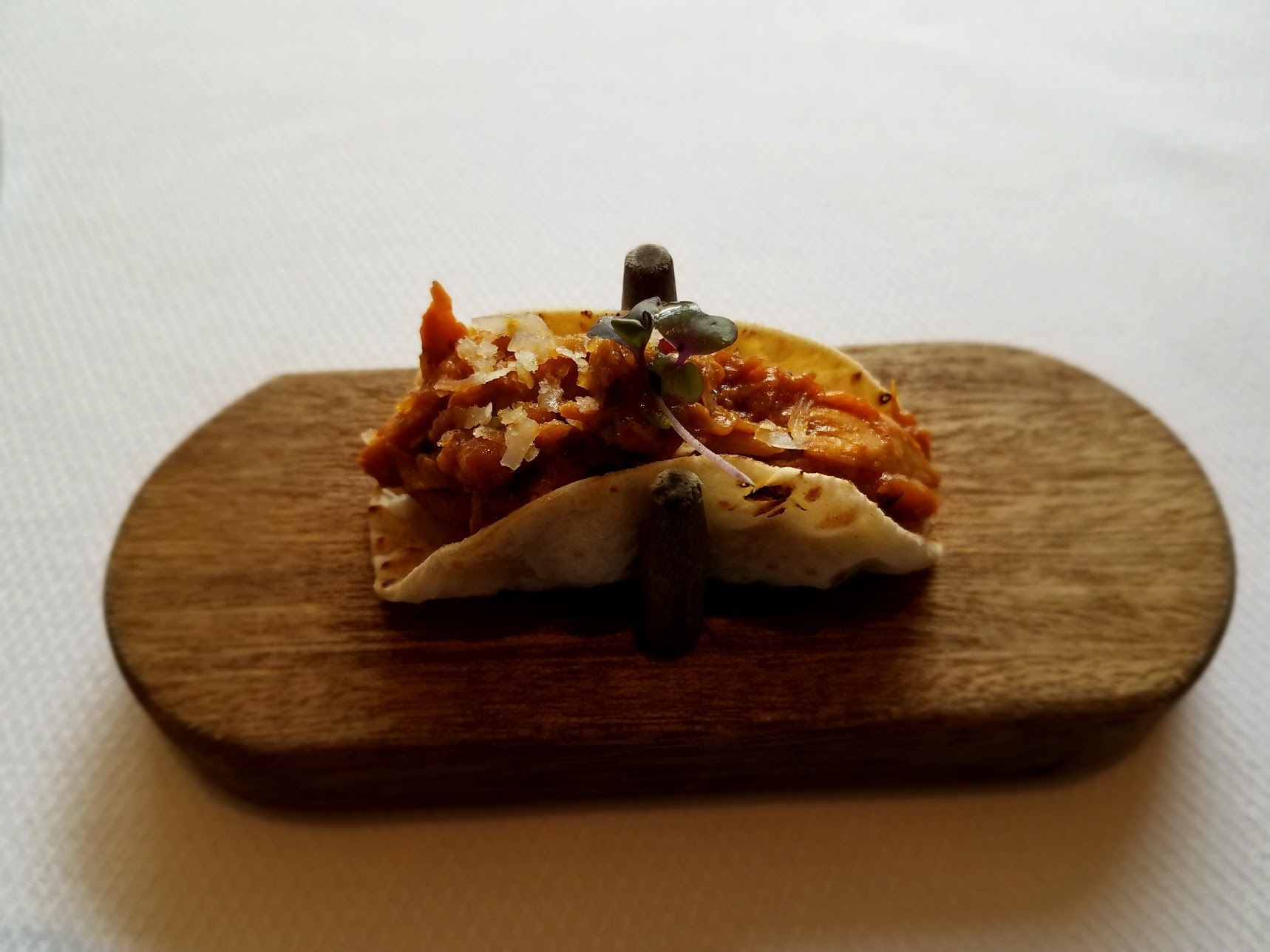 Indian Accent's Indian take on a Mexican taco.