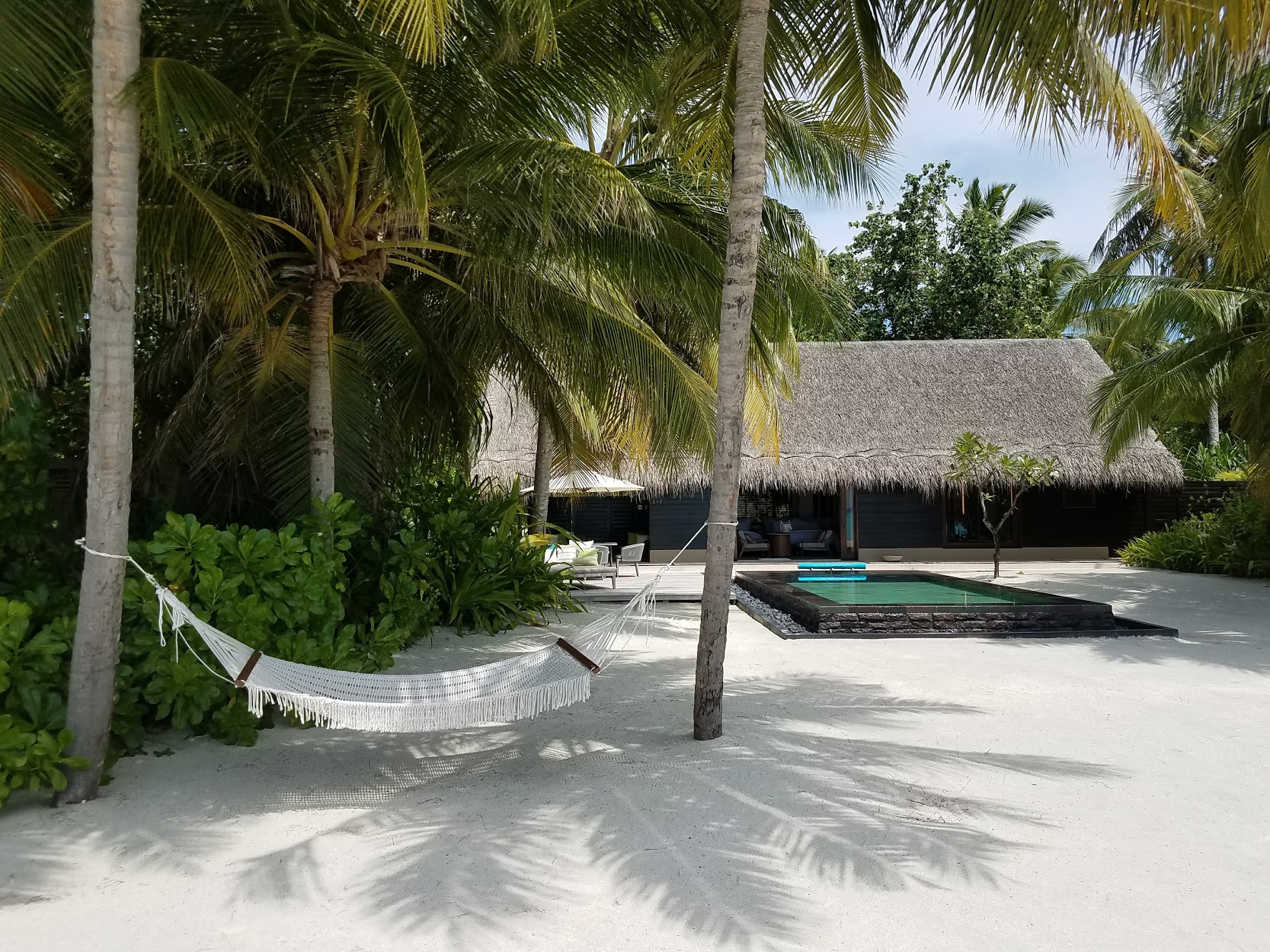 Perfect shadows at One & Only Reethi Rah.