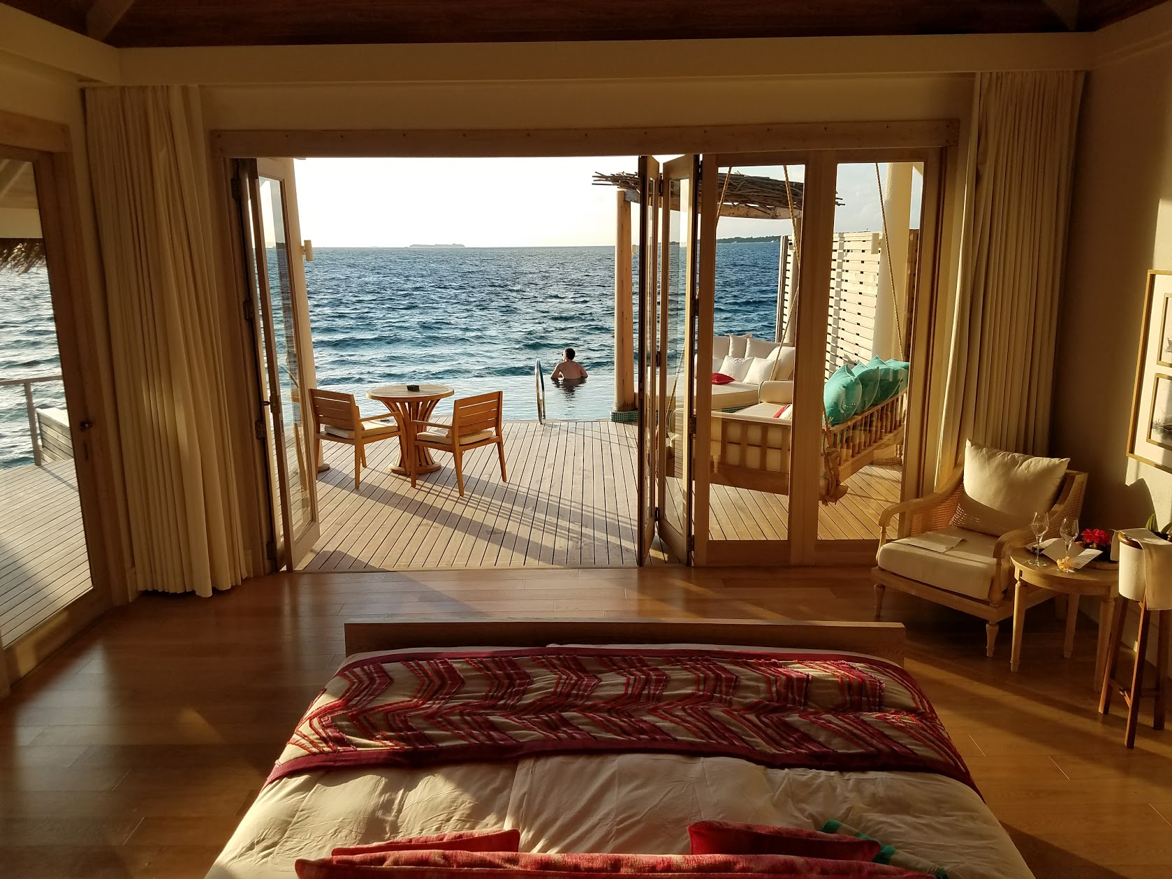 Our overwater villa with private pool at Milaidhoo.