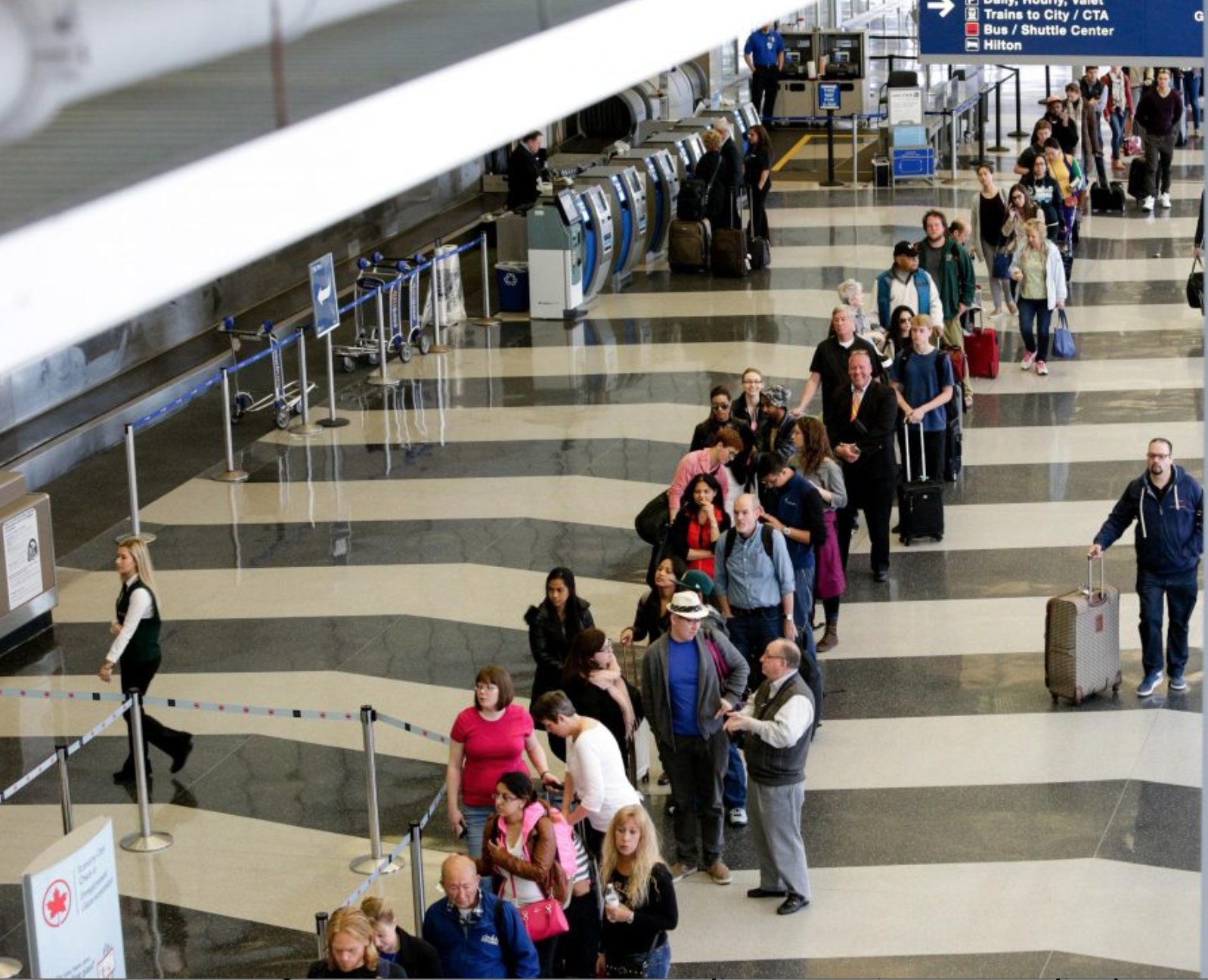This is your future if you don't arrive to the airport early.