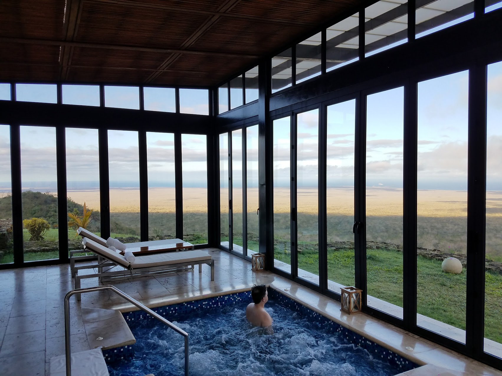 This is the spa at Pikaia Lodge. You won't find this on any cruise ship!!!