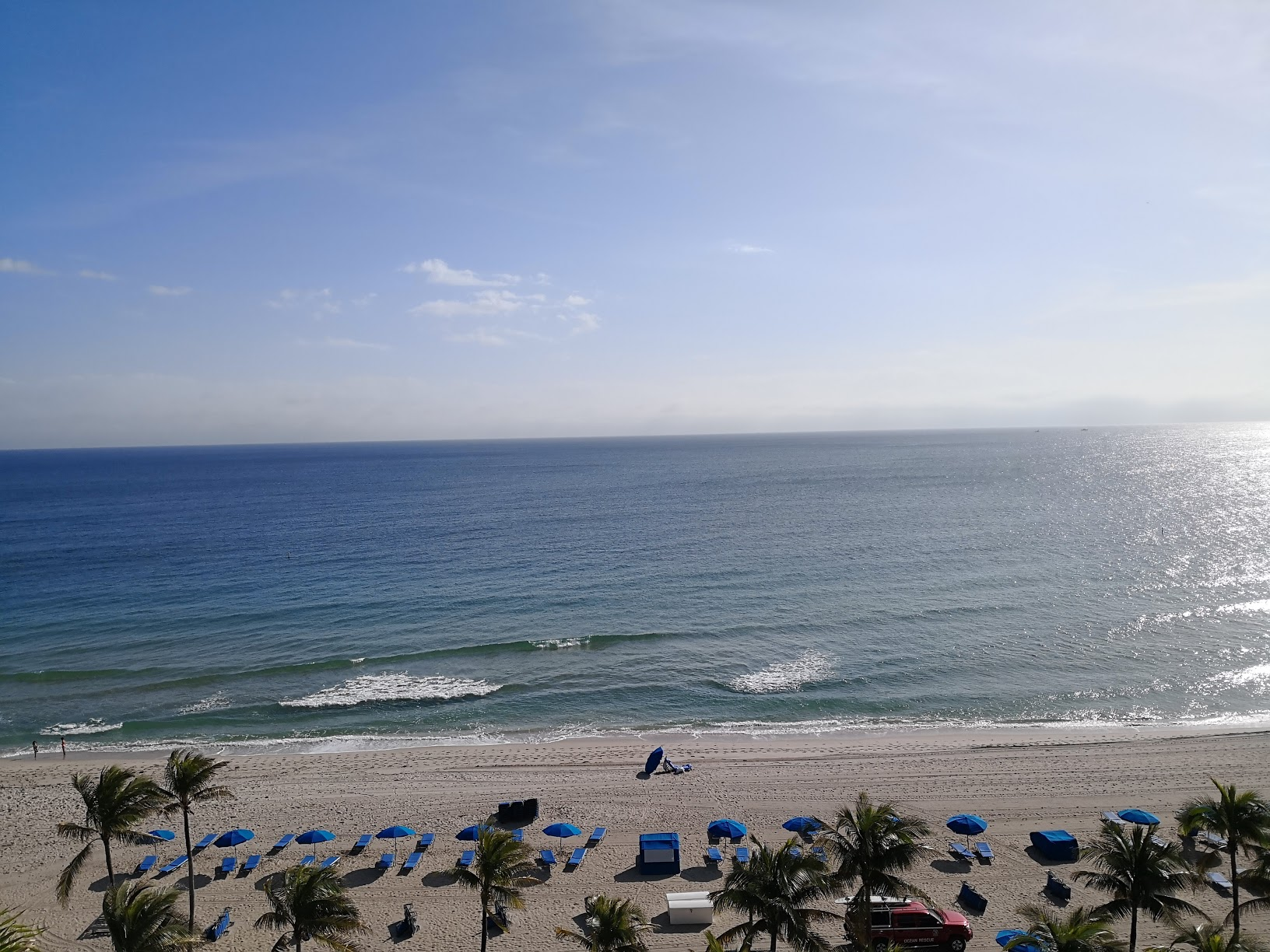 The view from the pool deck at Ritz Carlton Fort Lauderdale.