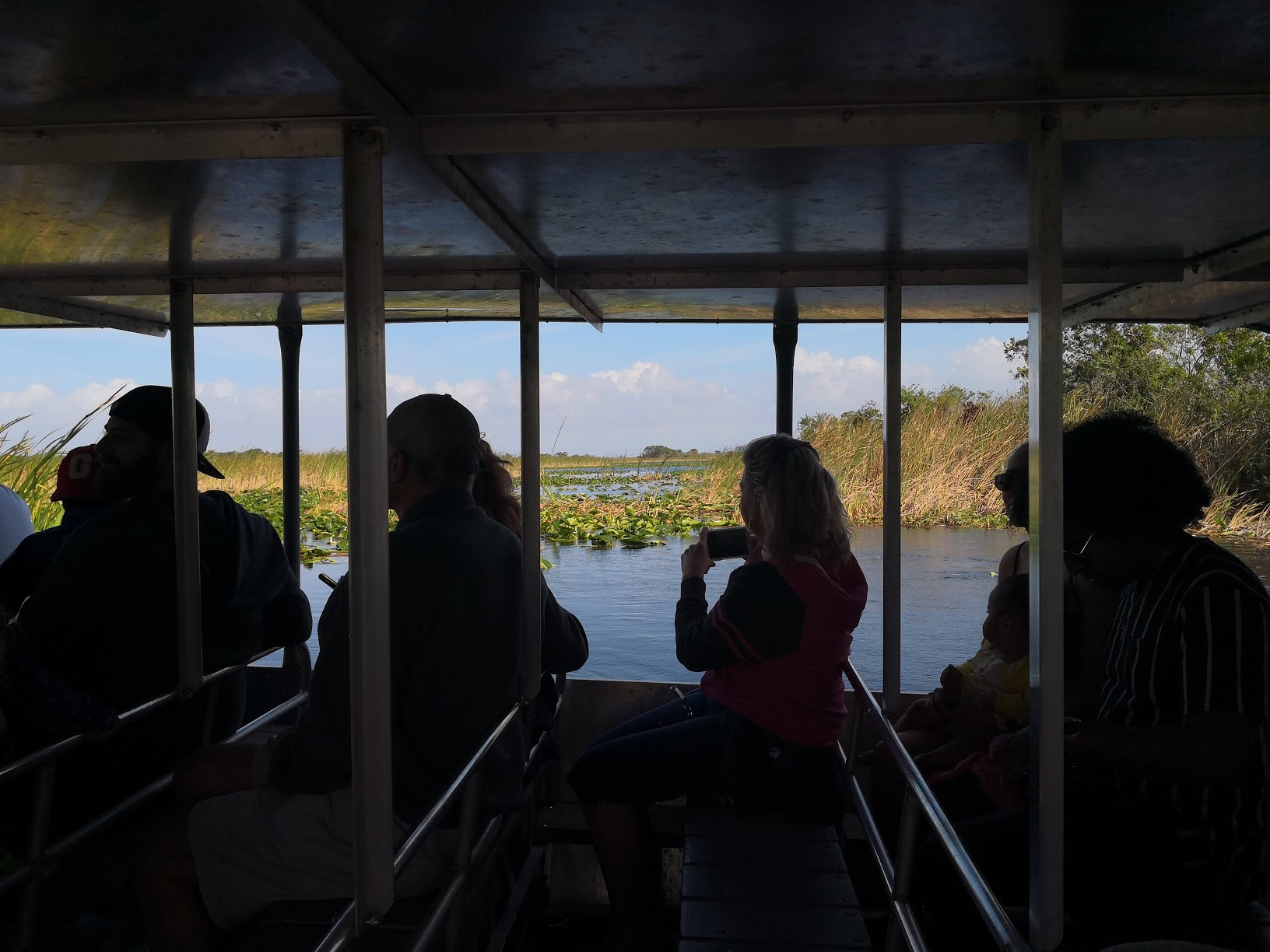 Airboat tour in the Everglades.