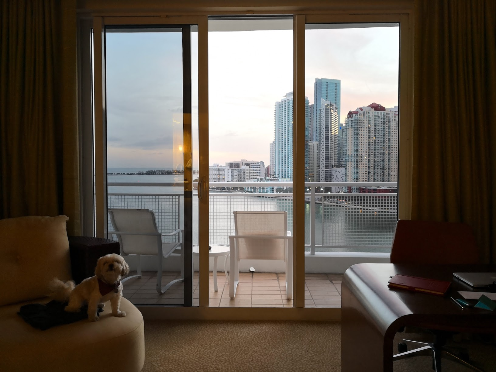 Check out the view from my room at Mandarin Oriental Miami.