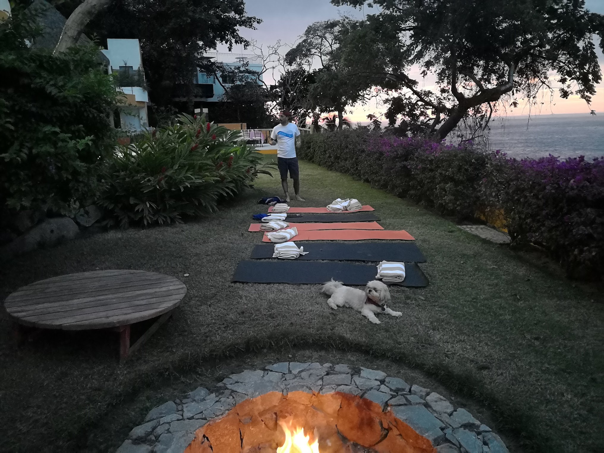 We arranged a ton of special things, like this sunset meditation. IT was all for us!