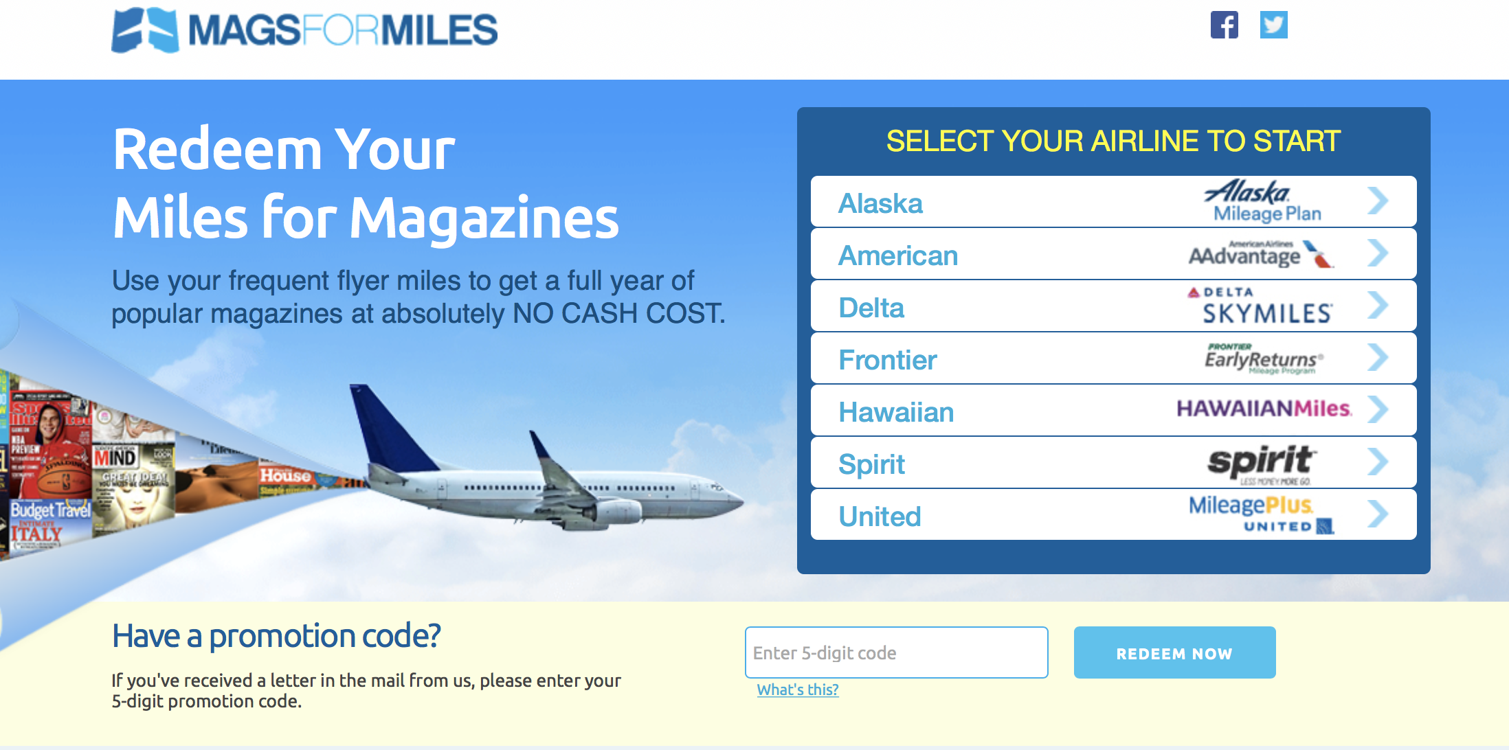 Magazines for Miles is a thing... and you can get them directly with your airline of choice on their own site, too.