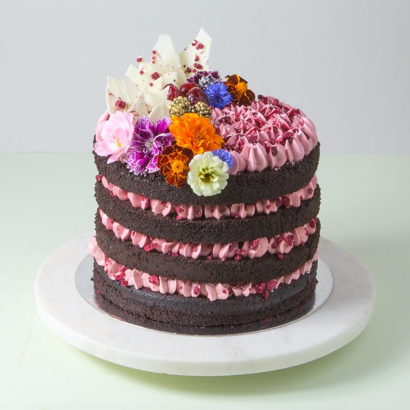 """8"""" Dark Chocolate Naked Cake"""
