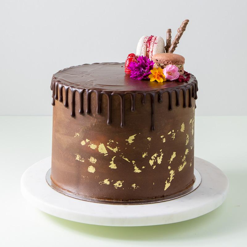 "8"" Dark Chocolate Cake"