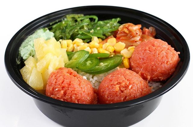Everything nice and little bit of spice! In this picture shown on the right, we have spicy crab, jalapeño, fushinko, corn, kelp, cucumbers, rice, and kimchi ! Oh my gosh it is delicious with the spices. What a bowl to end the week!