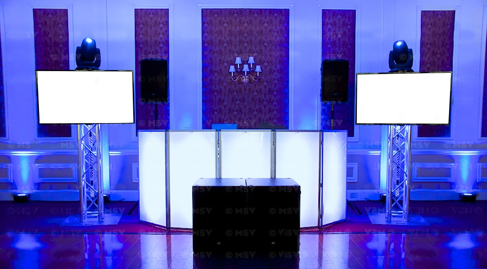 Tower Packages - It doesn't take much to make a big impact. Our lighting will re-create your event space, large or small, into an amazing visual experience. Take your Quince to the next level with one of our amazing lighting packages.