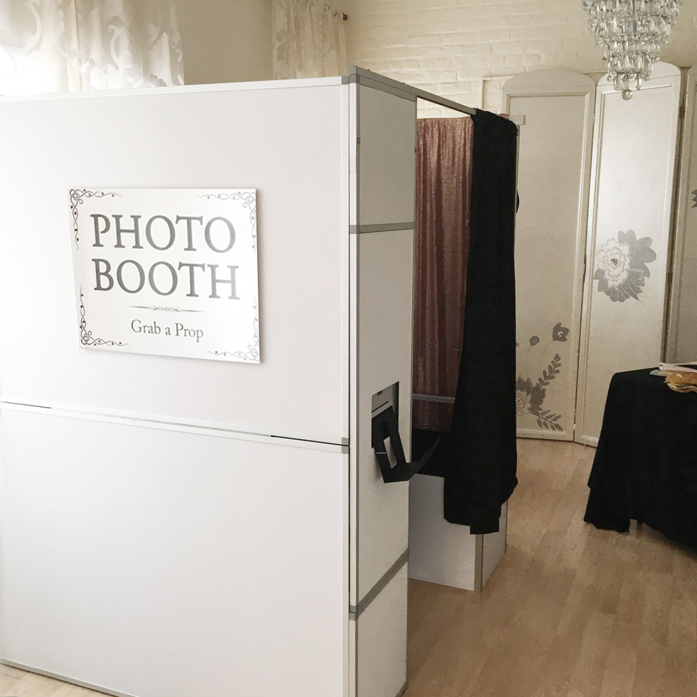 Classic Enclosed - This is where it all started: our Classic Enclosed Photo Booth! A modern take on the original enclosed style, this booth can fit up to 4 guests and can be used with or without a bench seat. Jump inside, close the curtain, and let the fun begin.