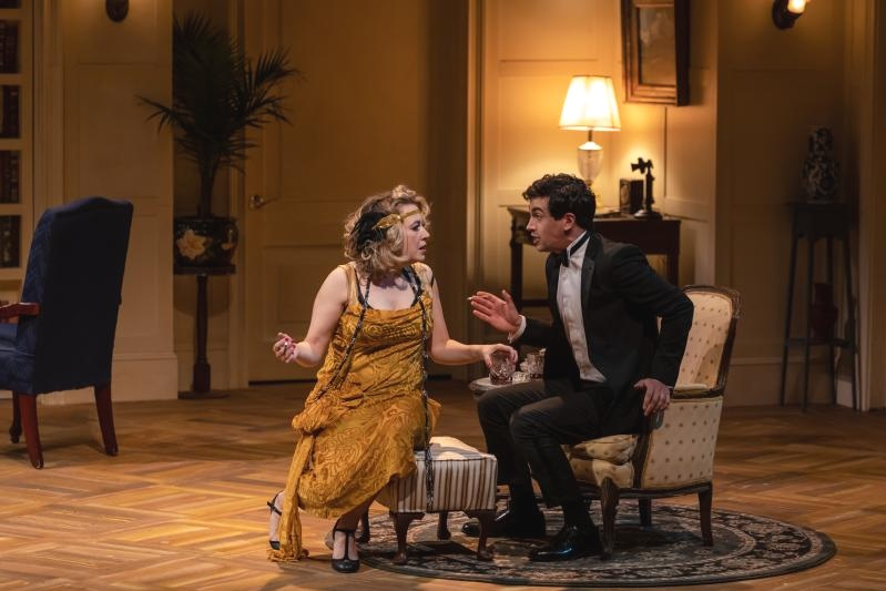 Jennifer Mudge and Stephen Stocking in MRS. CHRISTIE at Dorset Theatre Festival