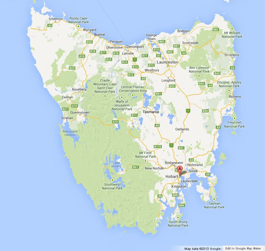 Kevin covers all of Tasmania