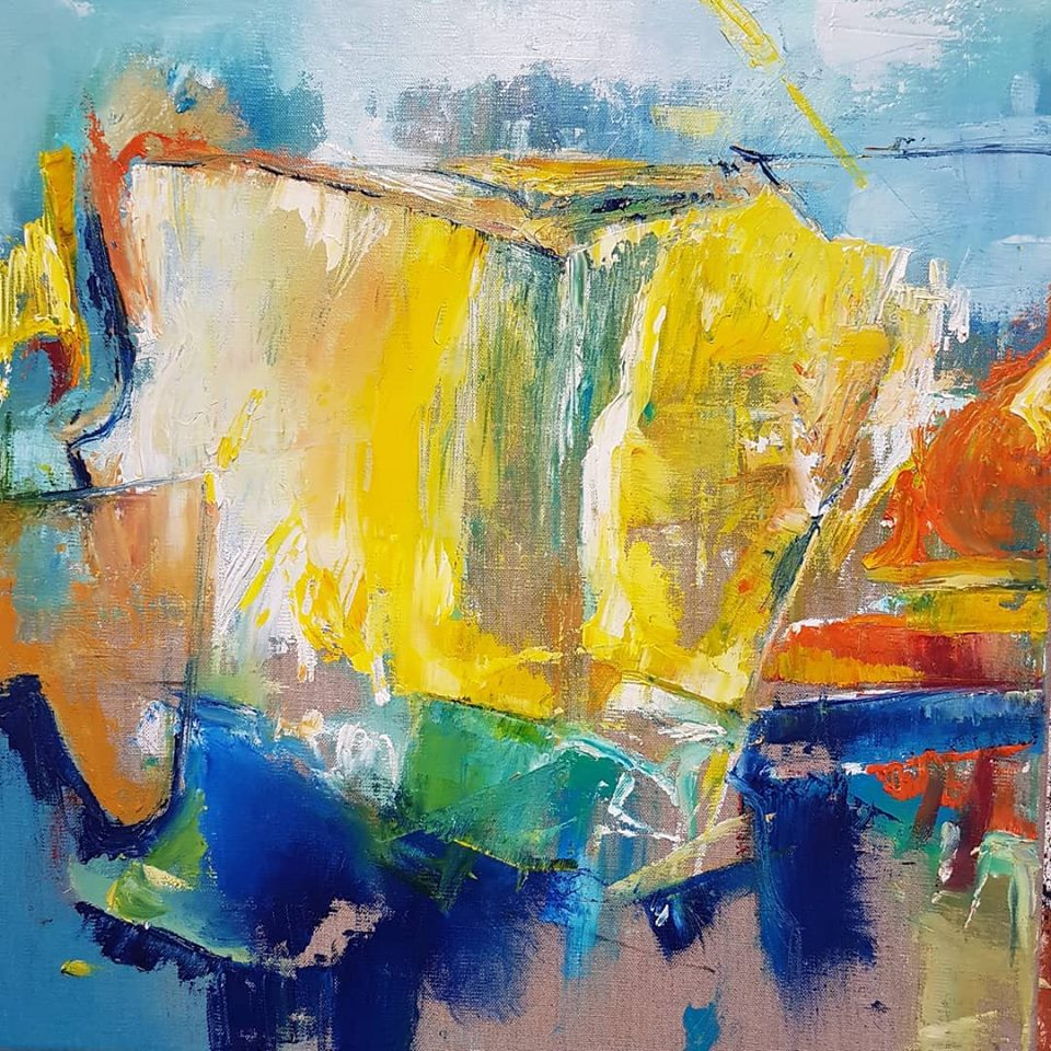 Kate Bell 'Eternal Sunbeams, Wilderness of Foam' Oil on Linen