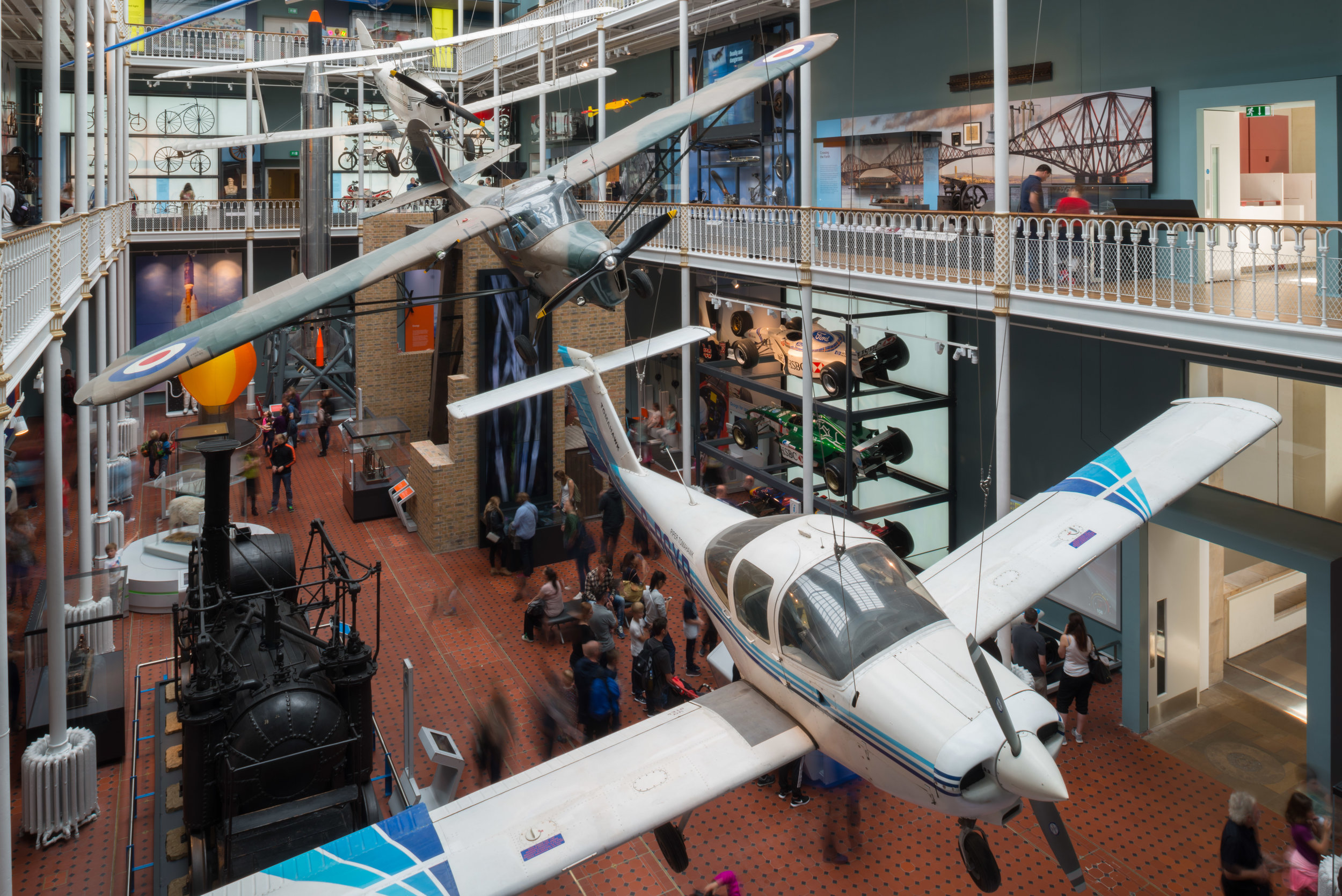 The Science and Technology galleries at National Museums Scotland which opened 2016.