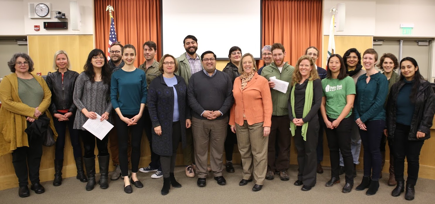 Members of Berkeley City Council and supporters of worker cooperatives, 2/26/19 (from theselc.org)