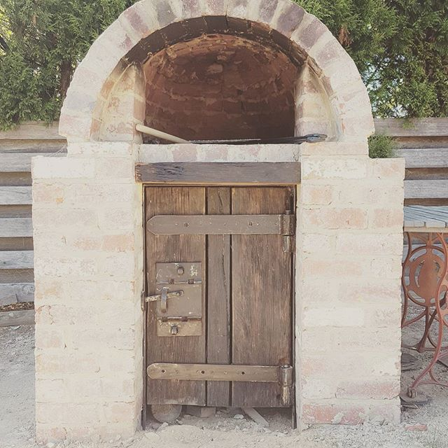 Custom Rustic Pizza Oven Door.