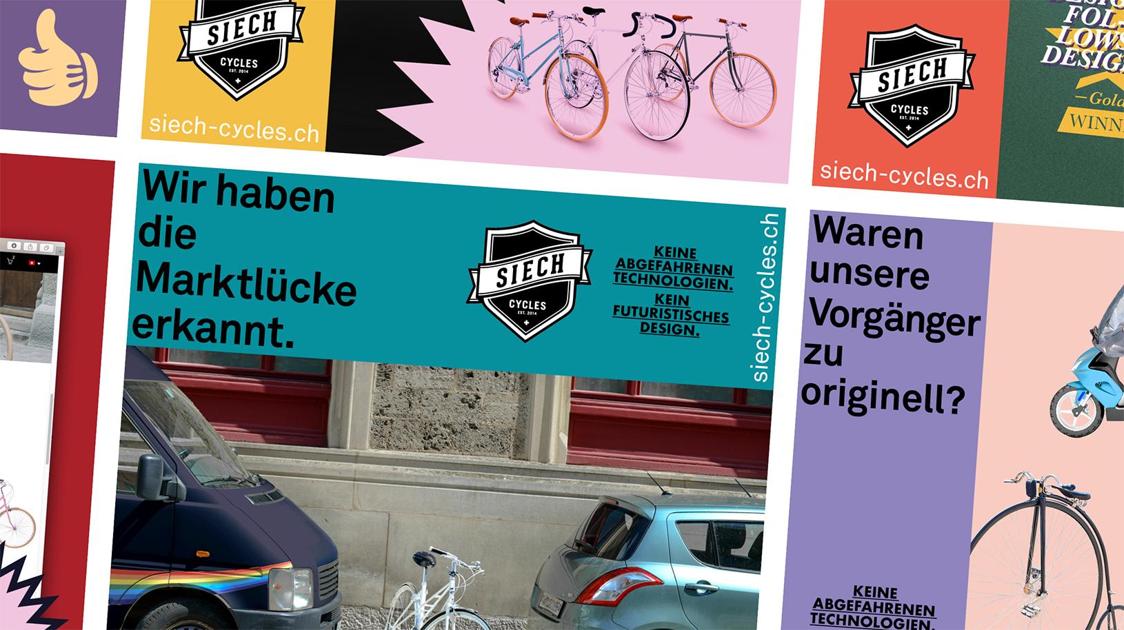 Werbung für unseren Lieblingskunden Siech Cycles -