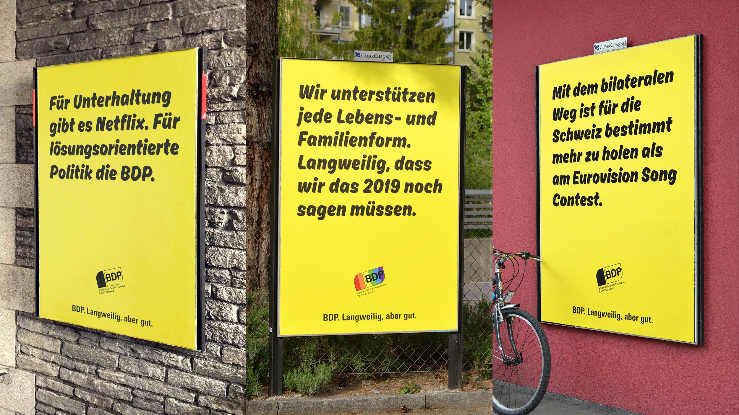 Werbung für unseren Lieblingskunden BDP -