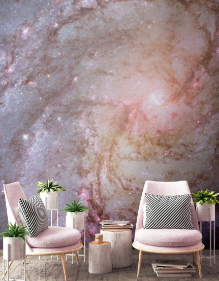 Cosmos - Add some 'space' into your space in 2019. With technology that promises us space visits becoming more tangible, the cosmos being an increasingly common theme in pop culture, and the 50th anniversary of the moon landing coming to the forefront, it's no wonder that everyone has gone space mad. And the world of interiors is fully in on this craze. 2019 will see the galaxies that lie lightyears above us creep into the walls of our homes. Get the spatial look now with astral murals, star and moon motifs, deep purples and blacks, and futuristic furniture that wouldn't look out of place in a science fiction film.