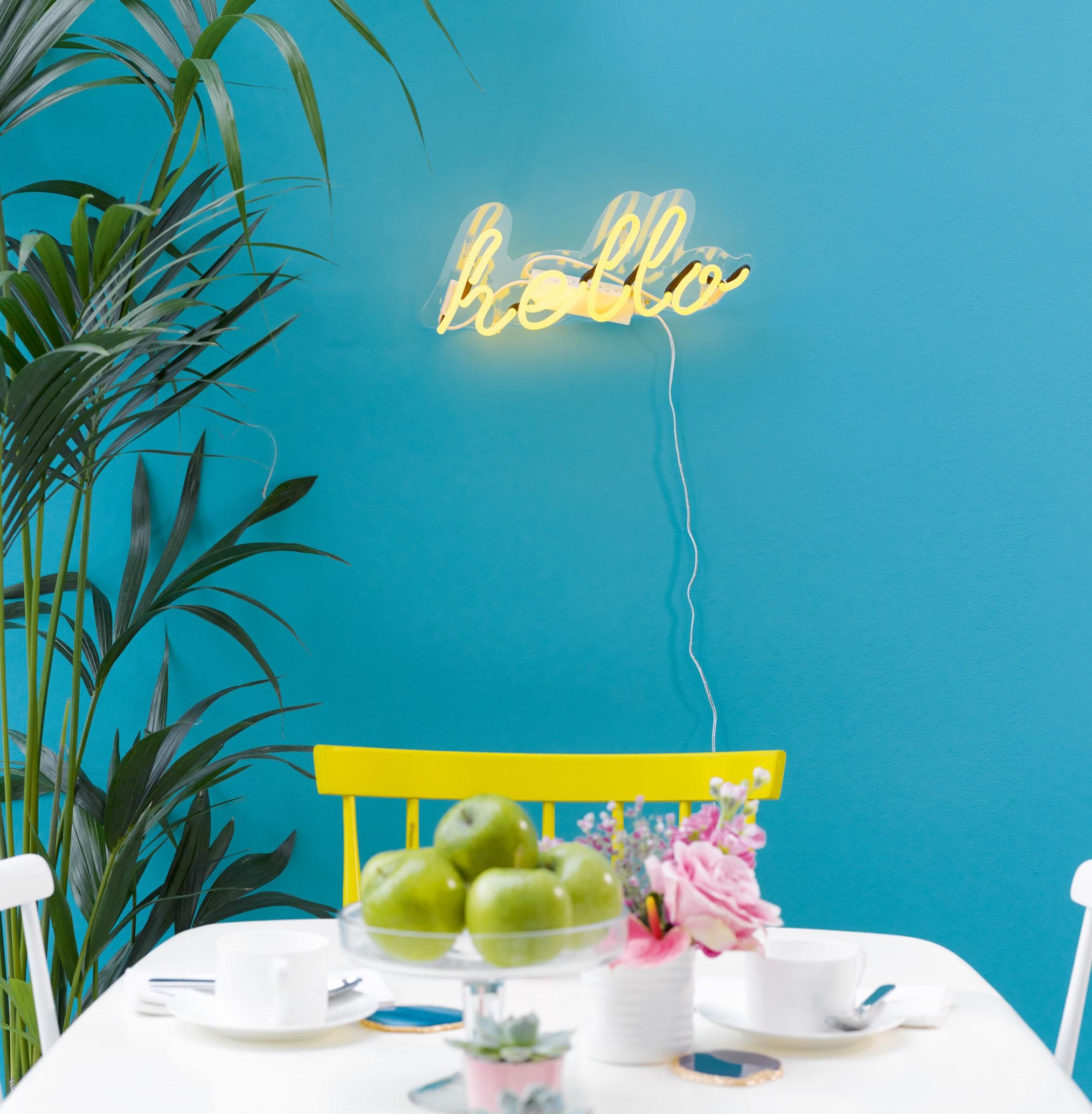 Hurn  Hurn, Neon Hello Wall light in Yellow , 2022508.jpg