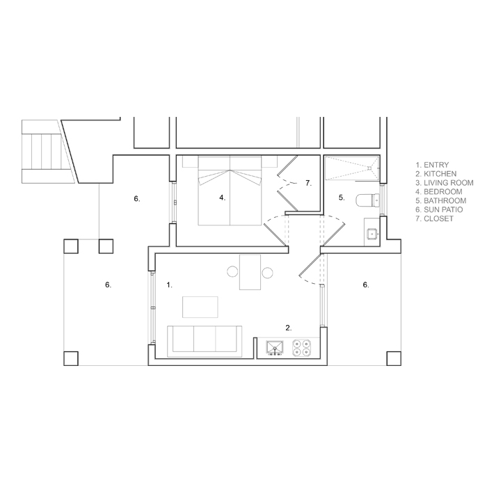 floor plan of a typical apartment