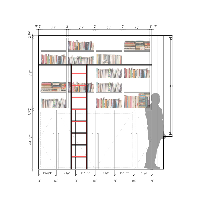 elevation of library