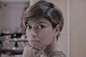 Afreen age 35 in her favourite earrings