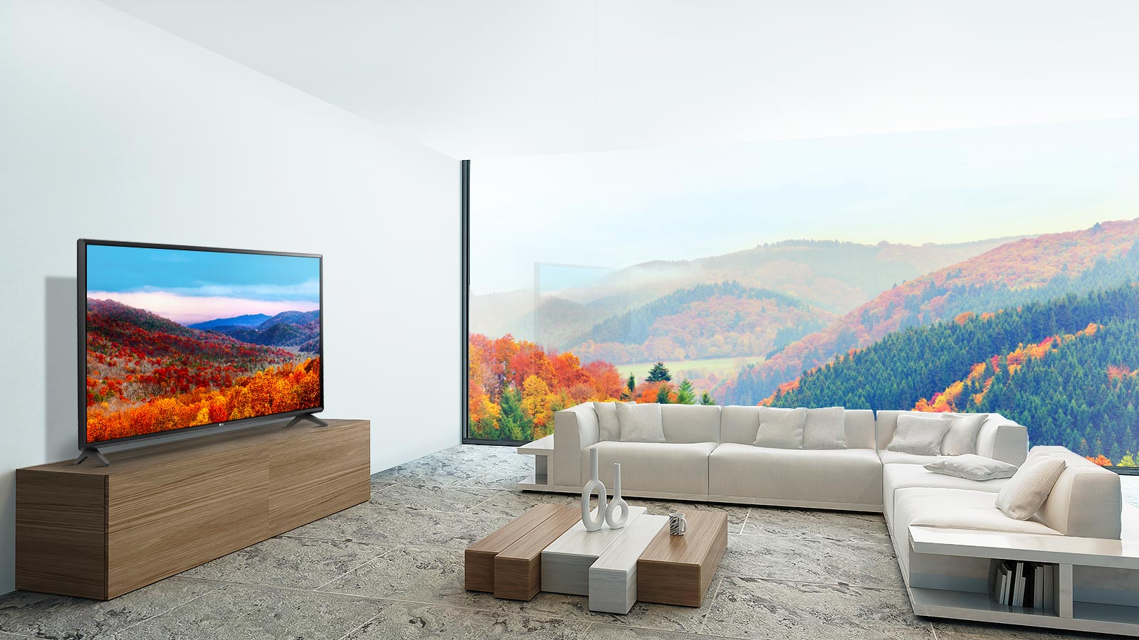 Modern TV Design - Your television is presented with minimal bezels and sleek modern lines providing a premium construction and a touch of real class to any living room.