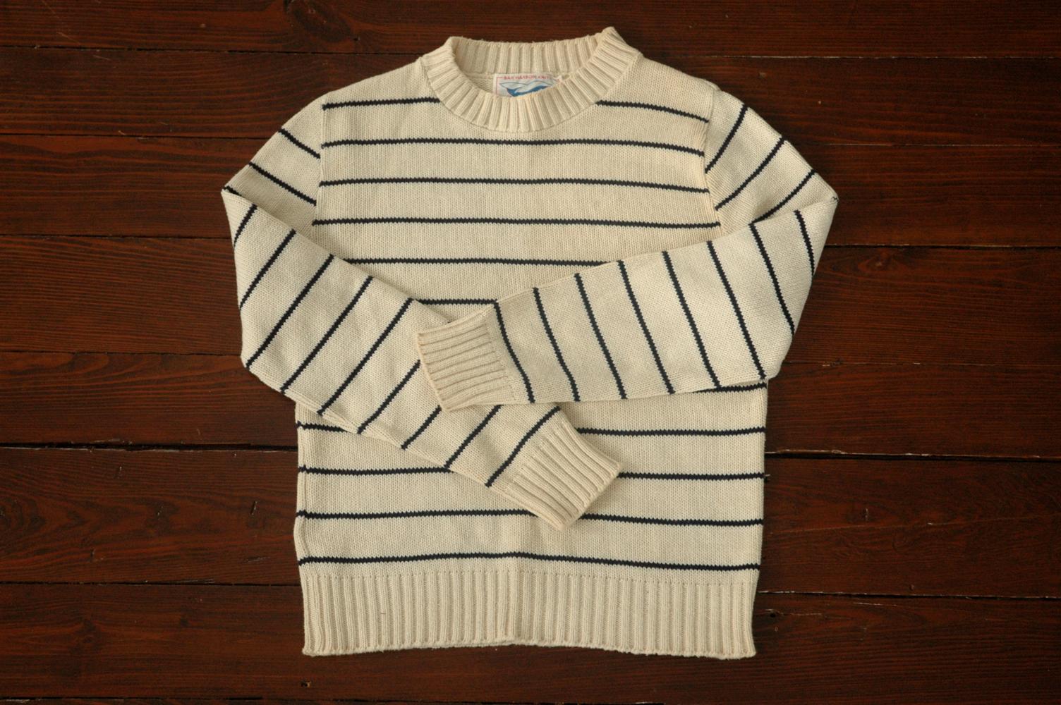 striped fisherman's sweater