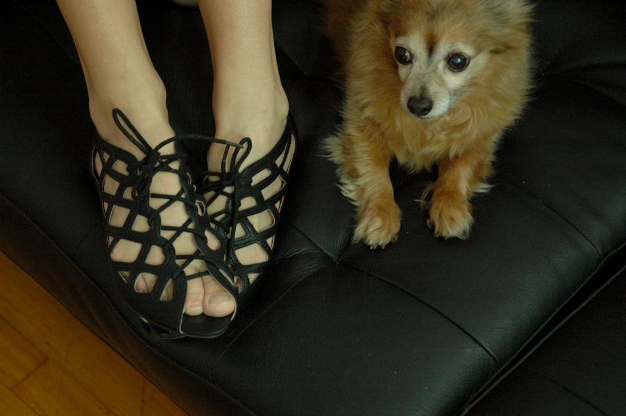 MIA black sandals