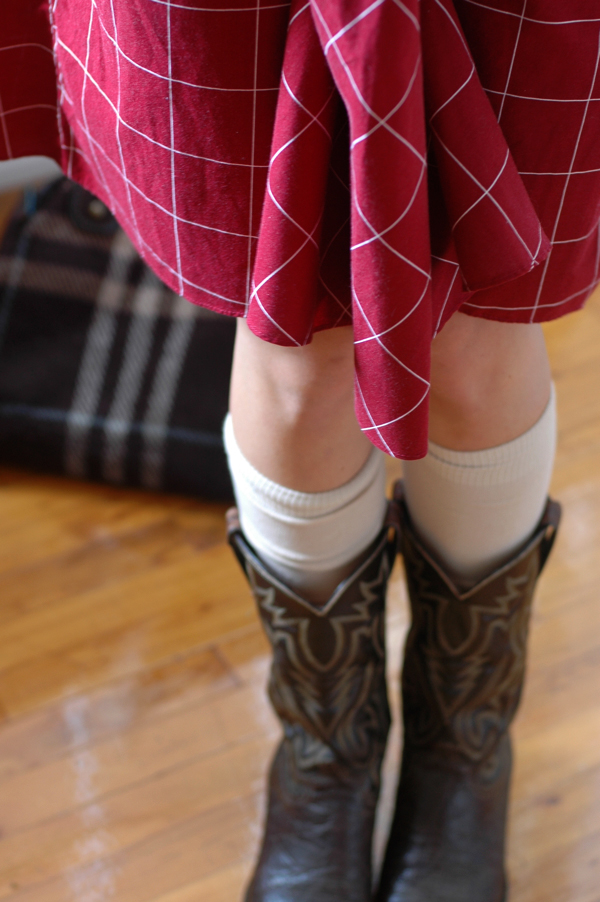 vintage dress cowboy boots fall