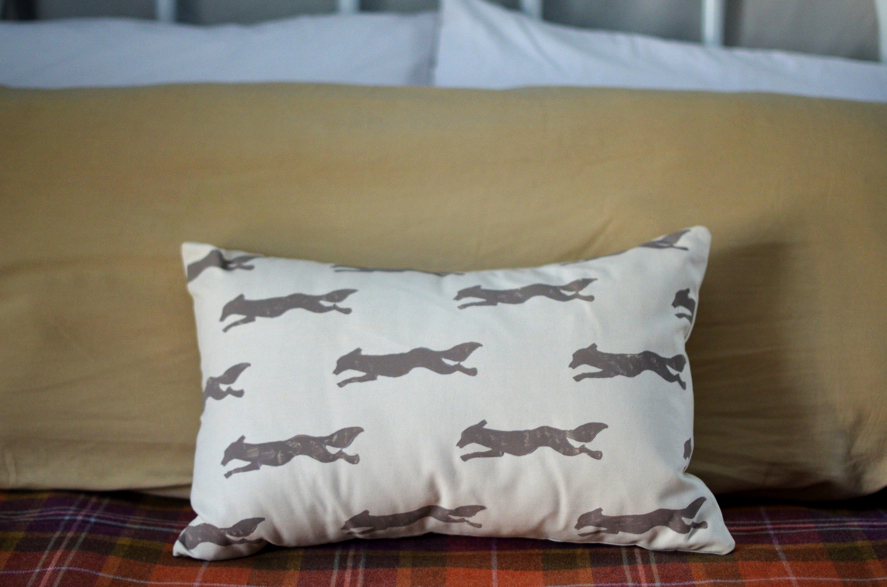 Fine and Feathered Fox Pillow DIY