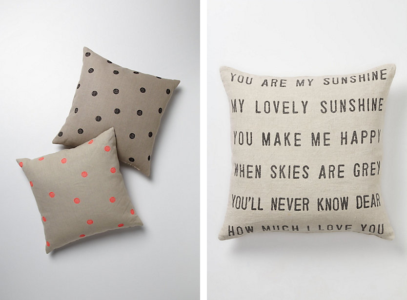 Anthropologie Pillows via Fine and Feathered