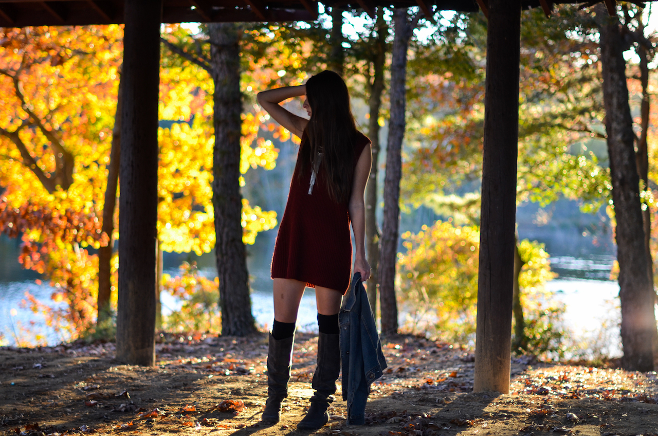 Fall Sweater Dress Outfit