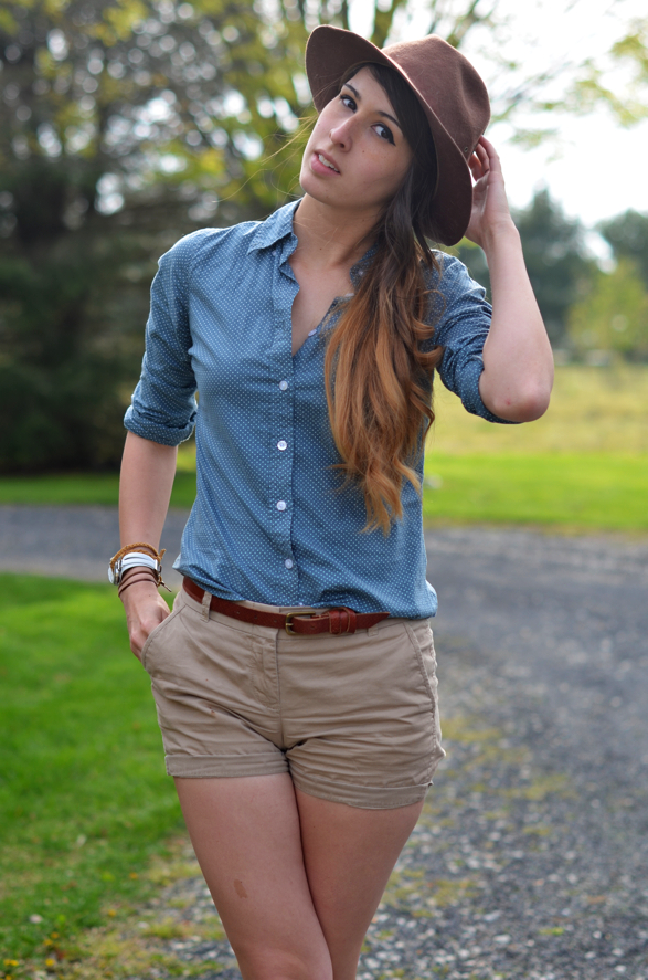 Spring Shorts and Button Down Womens Style