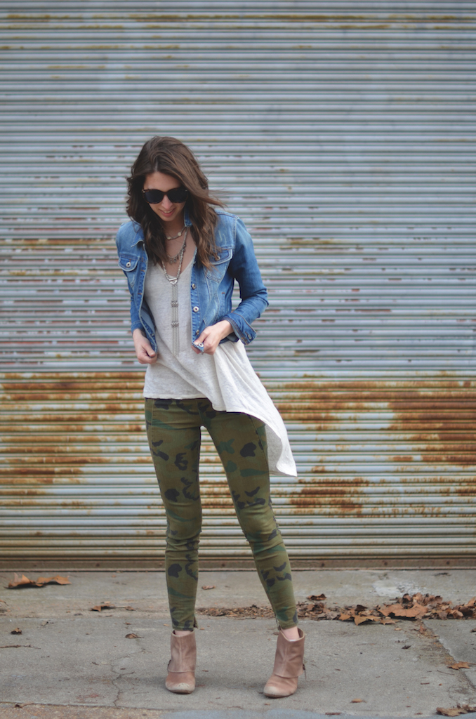 Camo and Denim Style