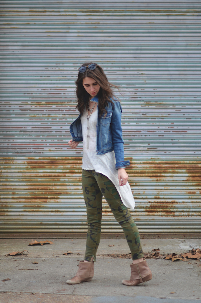 Camo Denim Womens Outfit