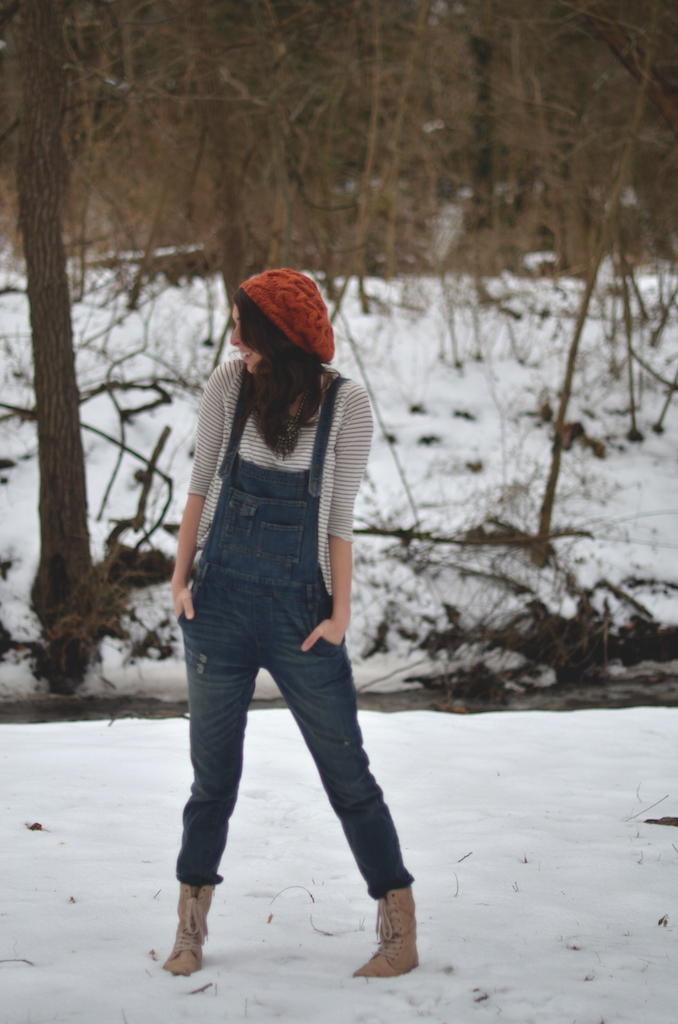 Overalls stripe shirt style