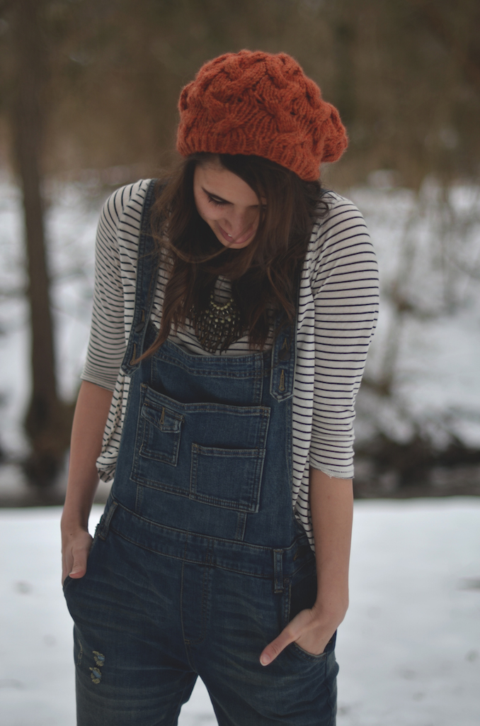 Winter Overalls Stripes