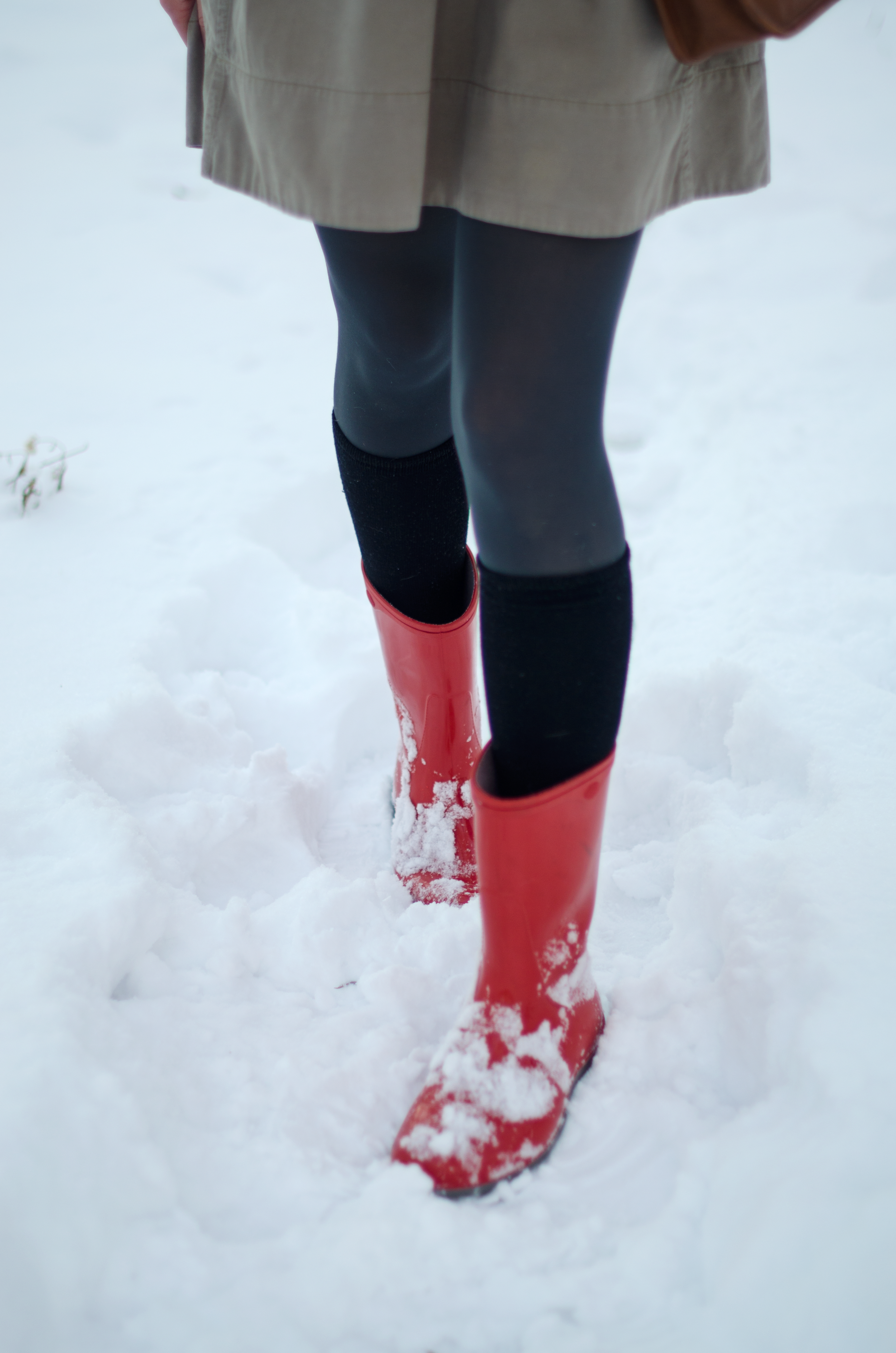Red Snow Boots Style