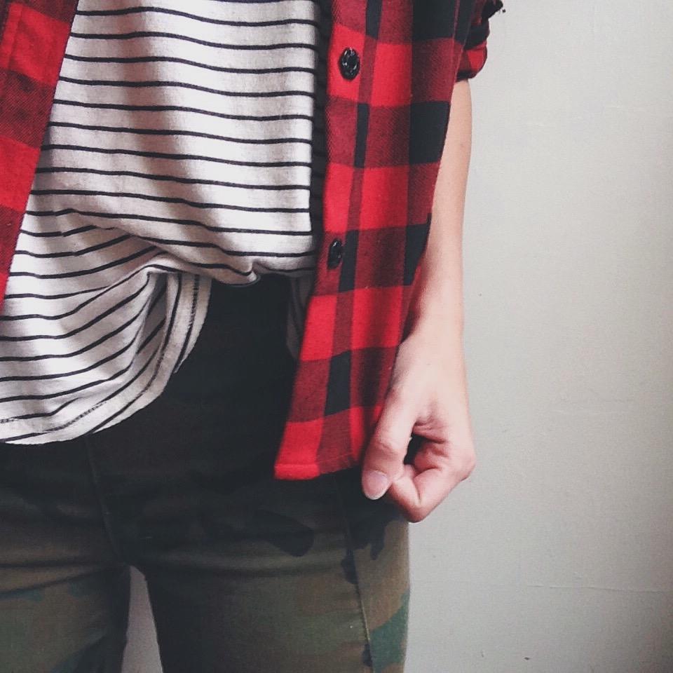 Stripes Camo Plaid